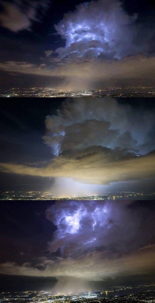 Странная воронка из облаков над зданием CERN ЦЕРН, Portal, Необычное, Видео, Облака, Гроза, Длиннопост