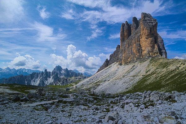 Доломиты, горный массив Три Пальца (Drei Zinnen, Tre Cime). Drei Zinnen, Три Пальца, Tre Cime, Доломиты, Южный Тироль, горы, длиннопост, Фото