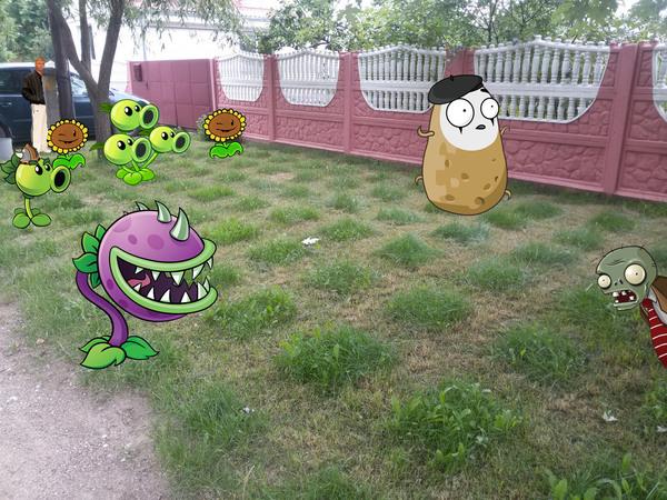 Когда увлёкся стрижкой газона Стрижка, Газон, Plants vs Zombies
