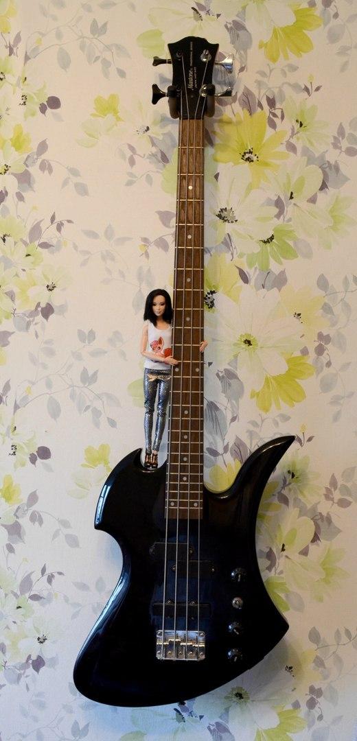 Миниатюрное рукоделие. миниатюра, бас-гитара, рукоделие, Своими руками, моё, длиннопост