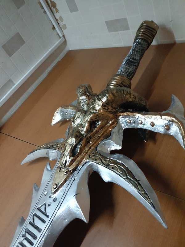 Меч Фростморн своими руками pepakura, Своими руками, фростморн, меч, длиннопост
