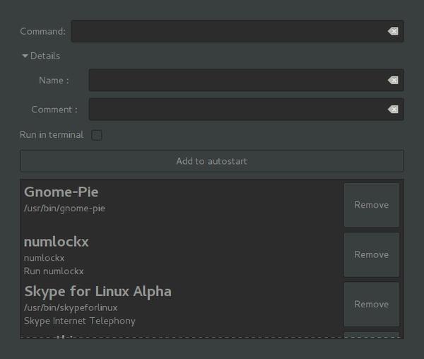 Управление автозагрузкой в Linux Linux, Gnome, Загрузка, C++, Gtk, Гифка, Длиннопост