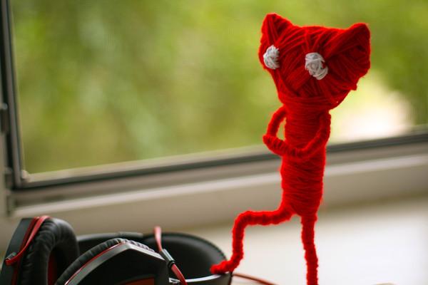 Ярни из игры Unravel своими руками :) Ярни, Кот, Unravel, Игрушки, Красный, Длиннопост
