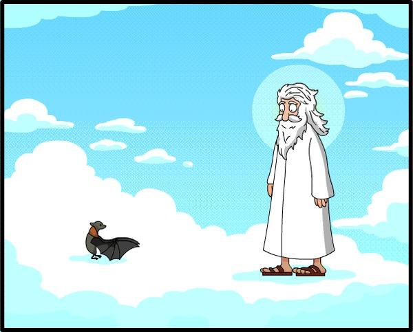 Создание летучей мыши (Анимированный комикс №14) Анимация, Гифка, Комиксы, Theotherend, Летучая мышь