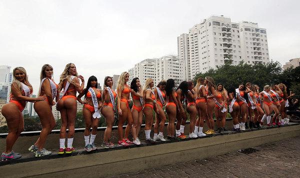 В Сан-Паулу стартовал ежегодный конкурс «Мисс Бум-Бум» Бумбум, Бразилия, Сан-Паулу, Мисс, Попа, Девушки, Длиннопост