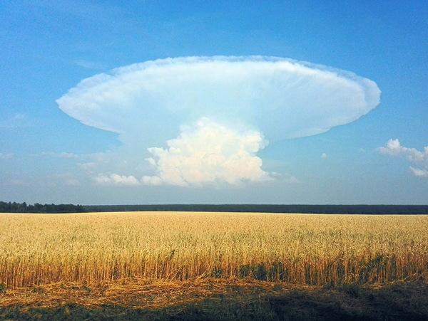 Лентикулярное облако Лентикулярные облака, Урал, Фото
