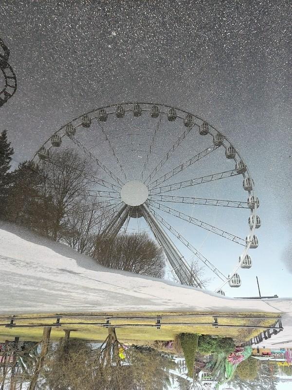 Отражение... Отражение, Отражение в воде, Санкт-Петербург, Крестовский остров, Колесо обозрения, Парк аттракционов