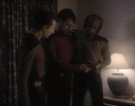 Рекорд скорости чтения. Star Trek, Tng, Сериалы, The Royale, Скорочтение, Гифка