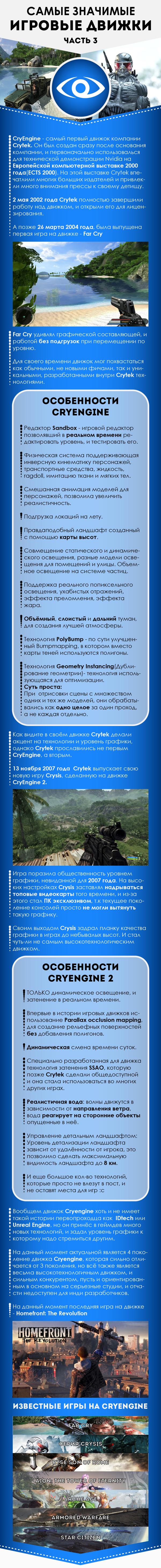 Самые значимые игровые движки, часть 3 длиннопост, моё, Игры, CryEngine, Crysis, Far Cry, видео