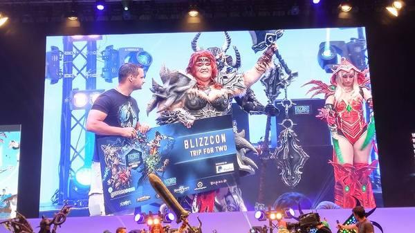 Победитель конкурса косплеев Blizzard на Gamescom 2016 Blizzard, Overwatch, Zarya, Косплей, Diablo III, Заря, Oni Cosplay