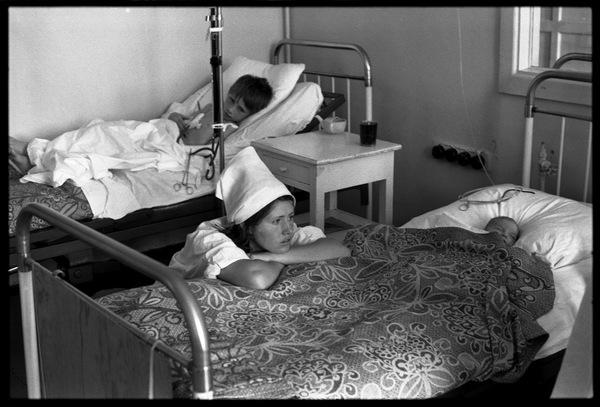 Медсестра-практикантка Фотография, Черно-Белое фото, Реанимация