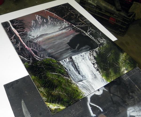 Bear spray art Медведь, Арт, Картина, Spray art, Spacepainting