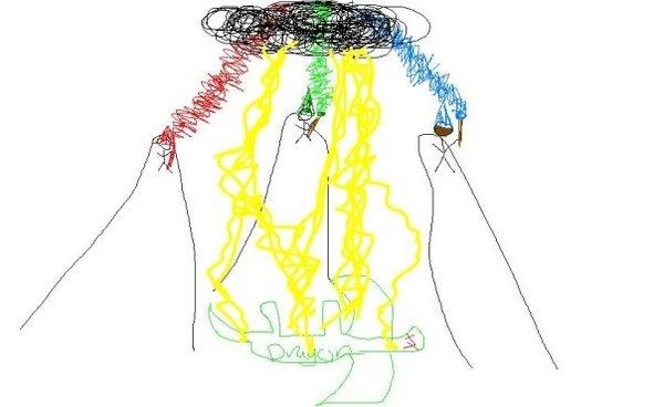 Как я дракона на заказ рисовал рисунок, дракон, Молния, цифровой рисунок, длиннопост