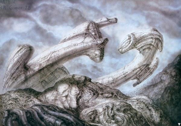 Рисунки Ханса Рудольфа Гигера для фильма «Чужой» Фильмы, Чужой, Гигер, Рисунок, Длиннопост