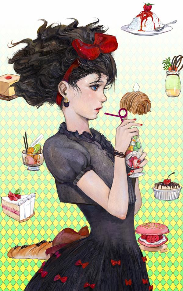 Amatizking art Amatizking, аниме, Anime Art, Anime Original, Kiki, Studio Ghibli, длиннопост