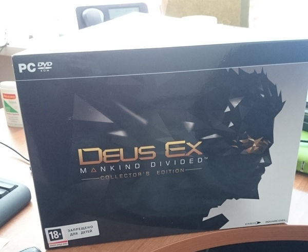 Deus EX: Mankind Divided Collector's Edition Deus ex, Deus Ex Mankind Divided, Unboxing, Игры, Длиннопост