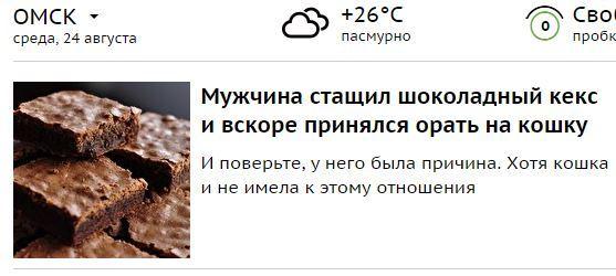 Срочные новости! Омск, Кекс, Кот, Мда