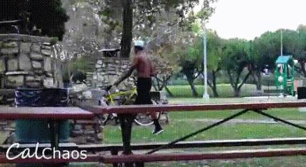 Воруешь велосипеды? Будь готов получить шокером в задницу (или того хуже) Велосипед, Вор, Шокер, Эксперимент, Гифка, Видео