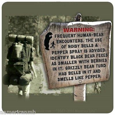 Знай врага в... Табличка, Предупреждение, Юмор, Медведь, Гризли, Перевод