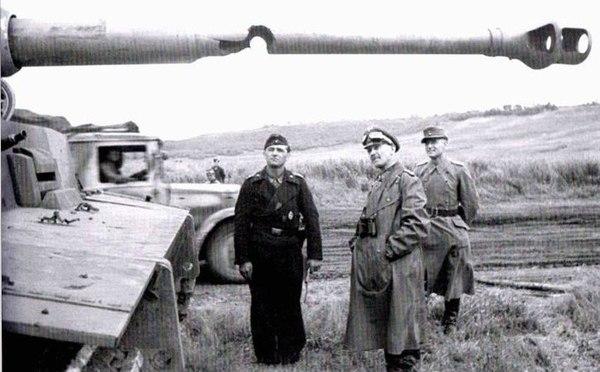 Немецкий PzKpfw VI «Tiger» с пробитым стволом
