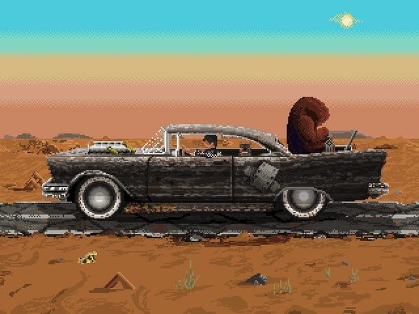 My Chrysalis Highwayman Pixel Art, Гифка, Анимация, Pixelgif, Fallout, Fallout 2, Fallout Art, Моё, Coub