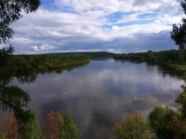 Река Ия Река, Иркутская область, Осень