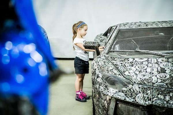 Художники сделали суперкары из металлического мусора. Авто, Самоделки, Металлолом, Интересное, Длиннопост