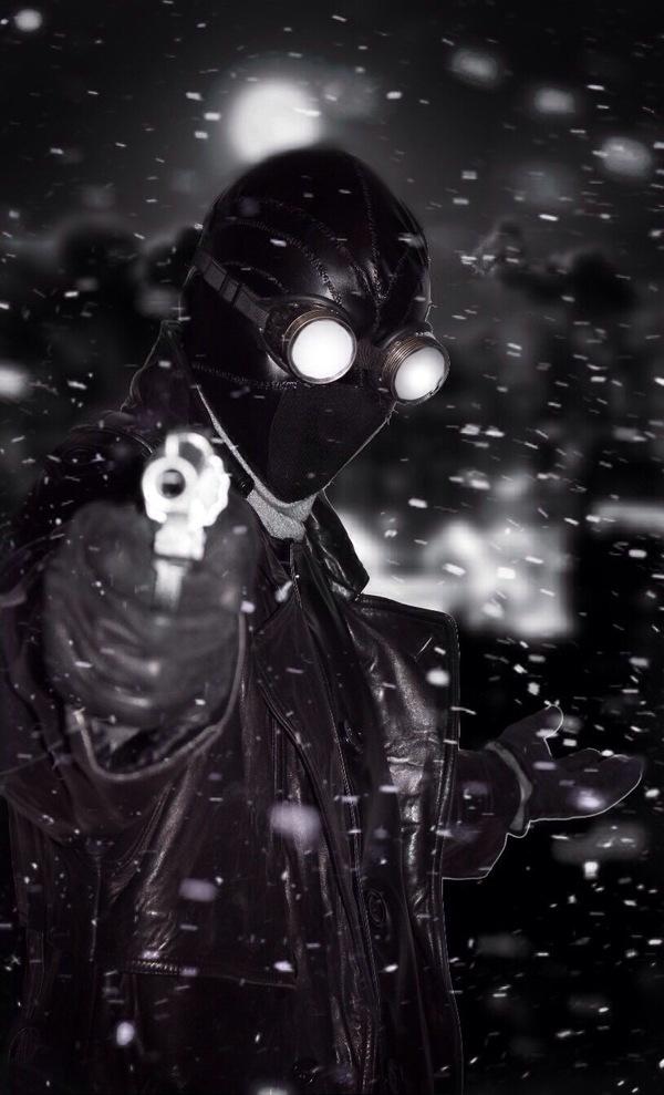 Всех приветствую,хочу представить вам косплей на нуарного человека паука))) Spider-Man: Noir, Косплей, Русский косплей, Человек-Паук, Длиннопост