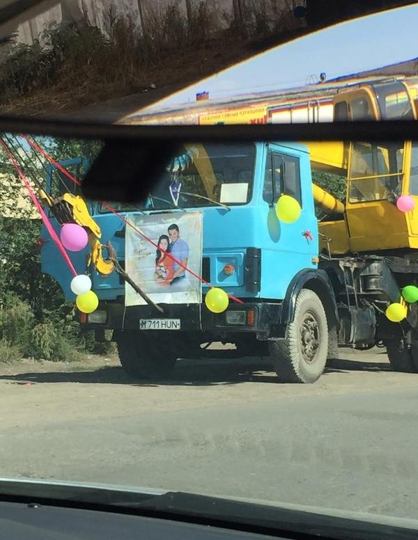 Свадьба  в Караганде, лимузины нынче не в моде