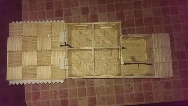 Я сам построю дом (окончание) Сделай сам, Спички, Своими руками, Прямые РУКИ, Из спичек, Длиннопост, Подарок