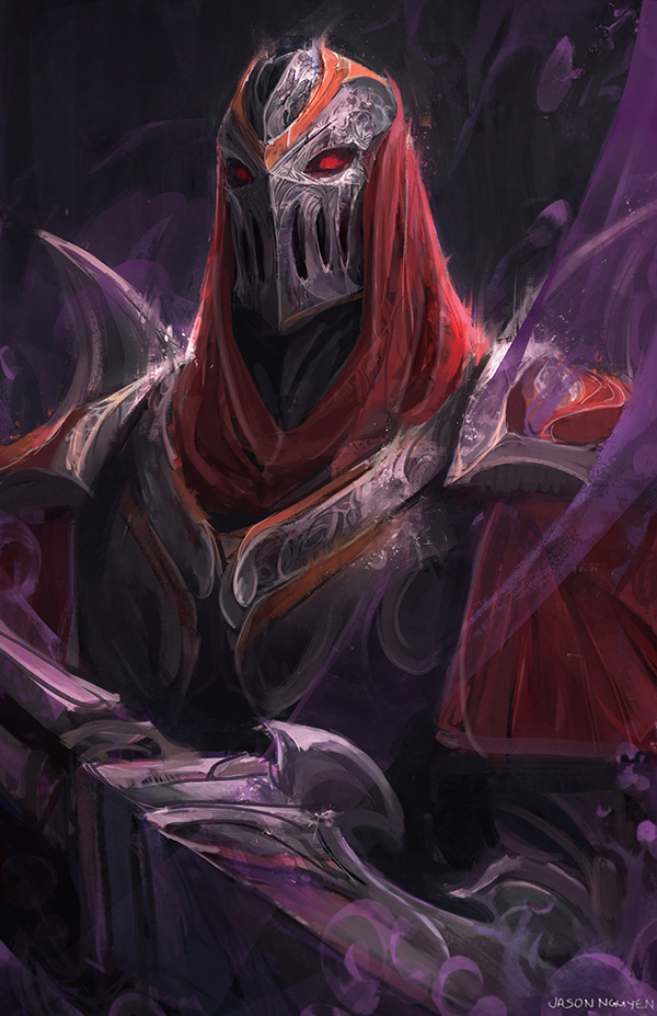 Zed Fanart Арт, Игры, League of Legends, Zed