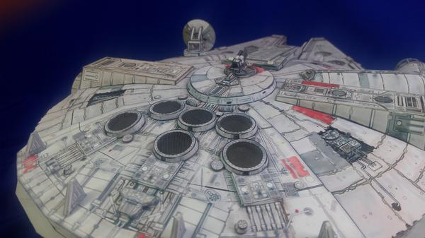 Millennium Falcon (бумажная модель) Тысячелетний сокол, Хан Соло, Подсветка, Длиннопост