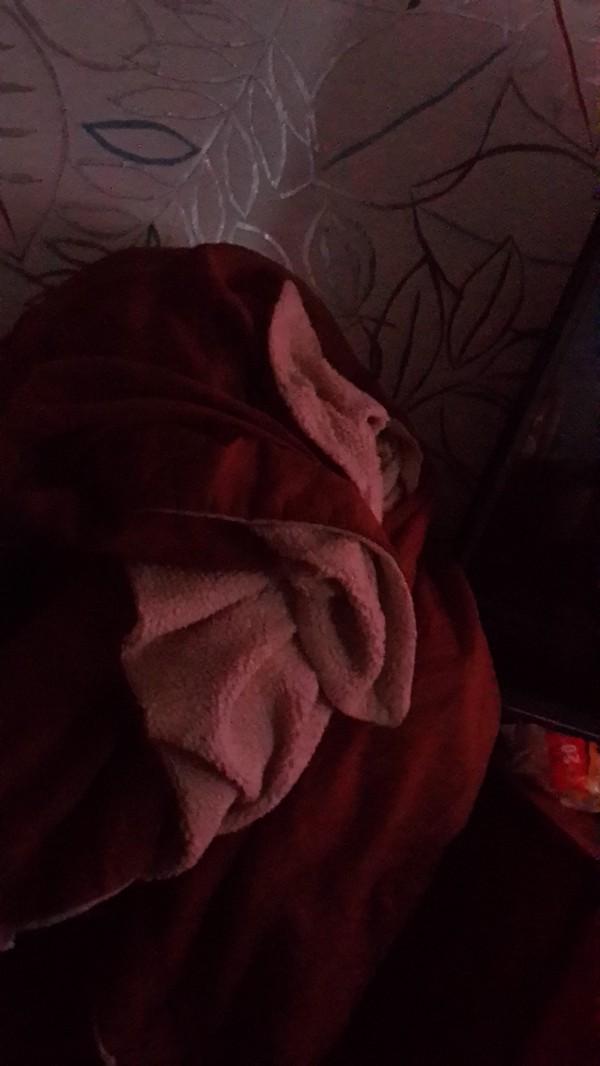Бабулька из одеяла Старуха, Лик, Одеяло, Случайность, Мистика, Длиннопост