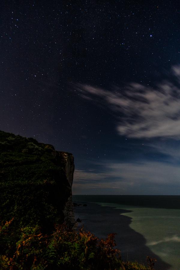 Ла-Манш Фотография, Нормандия, Ночное фото, Длинная выдержка, Canon, Море