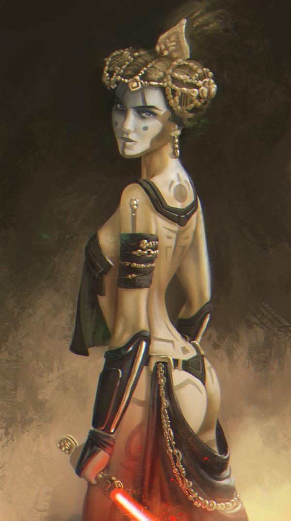 Королева Амидала - ситх. Процесс создания. star wars, ситхи, Натали Портман, portman, Padme Amidala, Портрет, рисунок, обучение, длиннопост