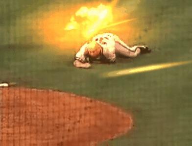 Поле боя Бейсбол, Со взрывом лучше, Adobe After Effects, Гифка