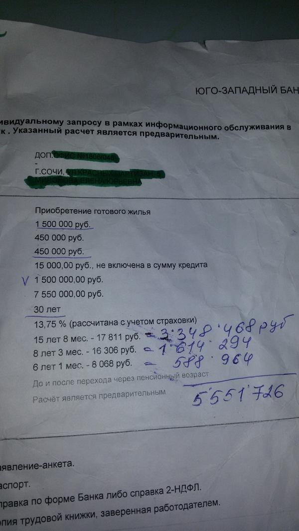 """Простая арифметика от """"зеленого"""" банка Ипотека, Кредиты зло, Жадность, 30 лет, Сберкасса, Проще сдохнуть"""