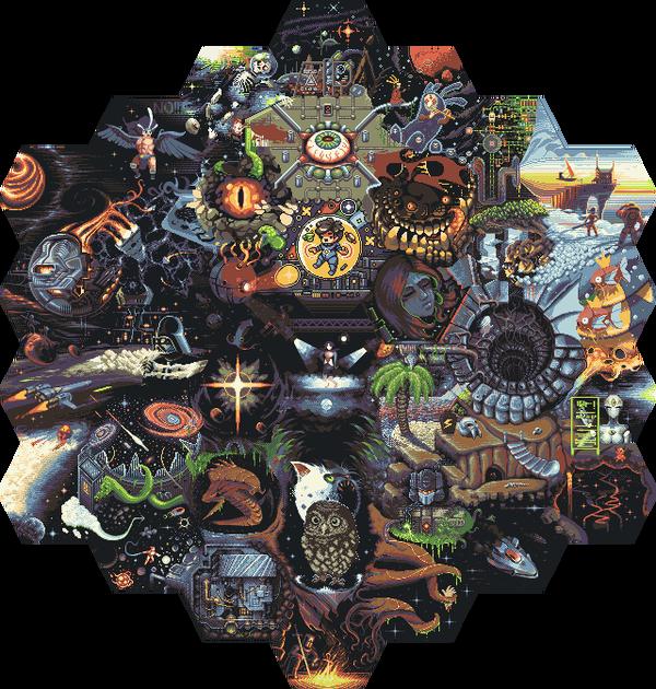 Russian Hexquisite Corpse Collab Pixel art, Коллаб, Длиннопост