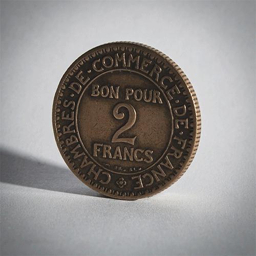 Магия для продвинутых. Продолжаем творить чудеса из монет. Кольцо, Монета, Кольцо из монеты, Франция, Франк, Гифка