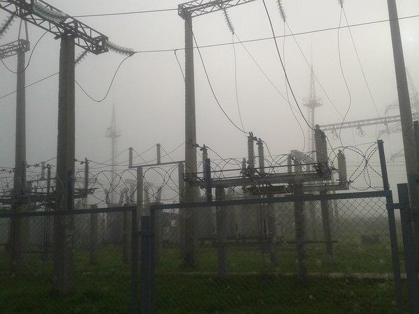 Моя работа:) Подстанция, Туман, Работа