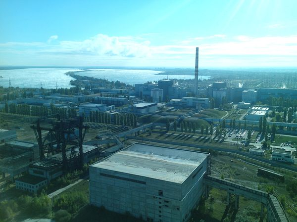 Работа, вид сверху (на общей волне) работа, вид города Курская АЭС
