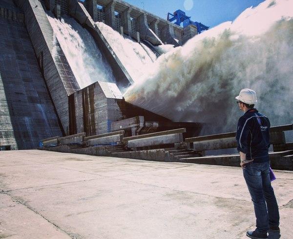 Фото с места работы ГЭС, Работа, Инженер, Масштаб, ГТС, Амурская область, Бурейская ГЭС, Рабочее место