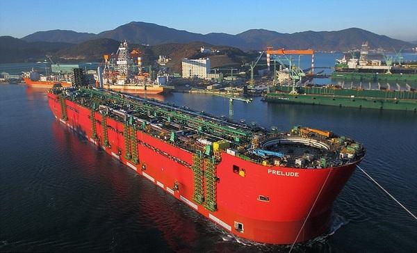 Морские гиганты большой корабль, википедия, море, prelude, Pioneering Spirit