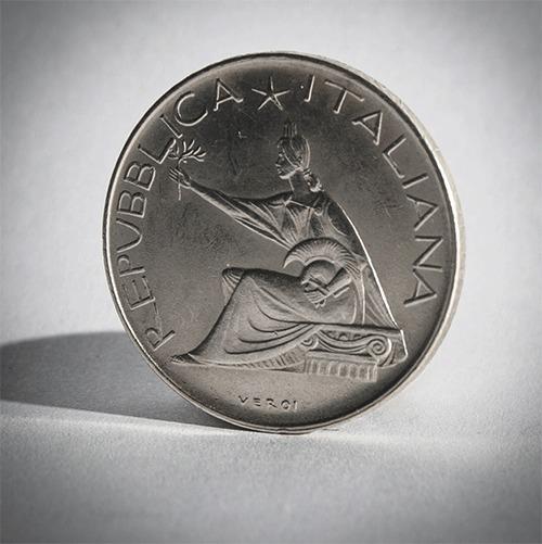 Кольцо из серебряной монеты. Наглядно и понятно. Кольцо, Монета, Кольцо из монеты, Италия, Лира, Серебро, Гифка