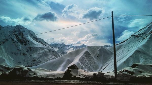 Горный перевал. Таджикистан. Фото, Перевал, Снег