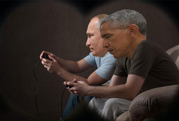 Испепеляющий взгляд Путин, Обама, Мемы, Длиннопост, Политика, Отношения