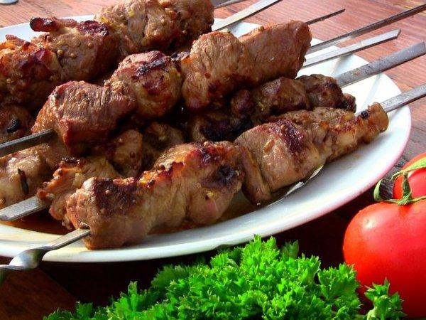 Яблочный шашлык Шашлык, Маринад, Еда, Рецепт, Мясо