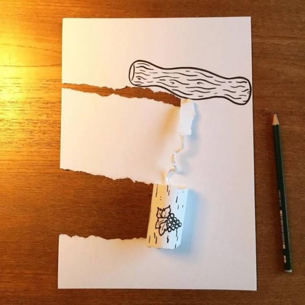3D истории из бумаги Бумага, Интернет, Оригами, Рисунок, Длиннопост