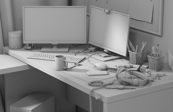 А вот мое рабочее место Рабочее место, Рабочий стол, 3ds max, Corona, Render