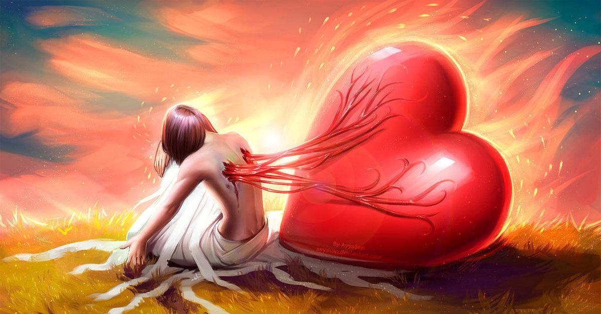 красивые картинки о любви арты мужа нет дома